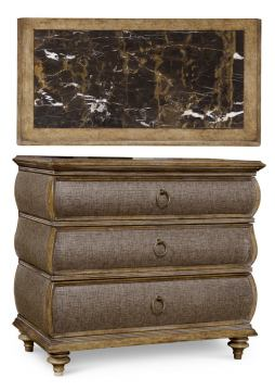 A.R.T. Pavilion 3 Drawer Accent Chest (Metallic Paper) in Rustic Pine 229151-2608