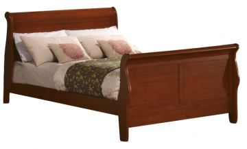 Acme Louis Philippe Queen Sleigh Bed in Cherry Oak 00390Q