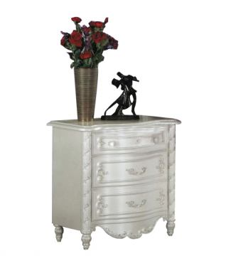Acme Pearl 3-Drawer Nightstand in Pearl White 01013
