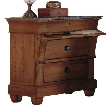Kincaid Tuscano Solid Wood Bedside Chest with Marble Top 96-142MV