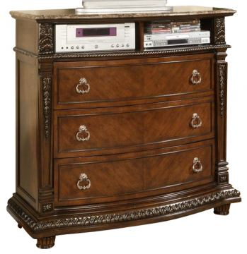 Homelegance Palace TV Chest in Rich brown 1394-11