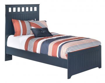 Leo Twin Panel Bed in Blue