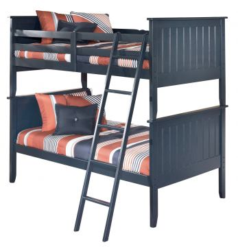 Leo Twin Bunk Bed in Blue