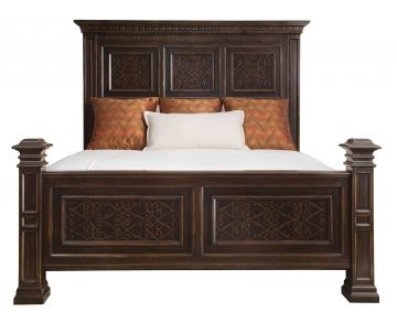 Bernhardt Pacific Canyon Cal. King Panel Bed in Coffee Bean 349-H09CK