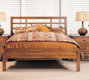 Durham Furniture Lodo Asian Bedroom Set with Low Panel Footboard