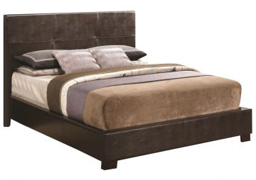 Coaster Andreas Queen Casual Bed with Vinyl Padded Headboard 202470Q