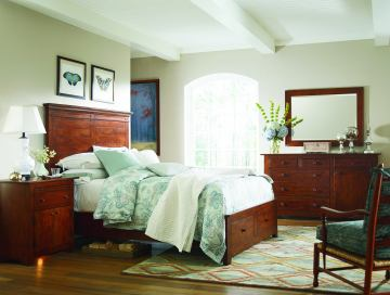 Kincaid Homecoming Winchester Panel Storage Bedroom Set in Vintage Cherry