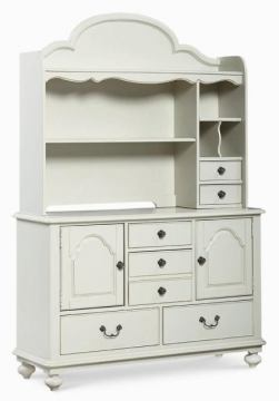 Legacy Classic Kids Inspirations Door Dresser with Hutch in Morning Mist 3830