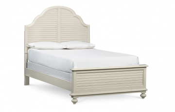 Legacy Classic Kids Inspirations Catalina Panel Full Bed in Seashell White 3832-4104K