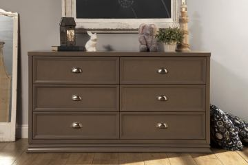 Franklin & Ben Mason Double Wide Dresser in Weathered Grey B5616Z