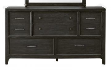 Pulaski Vintage Tempo 8 Drawer Dresser in Black 402100