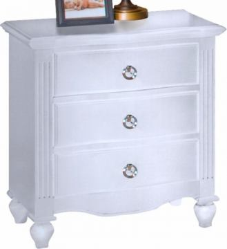New Classic Victoria 3 Drawer Nightstand in White 00-621-040