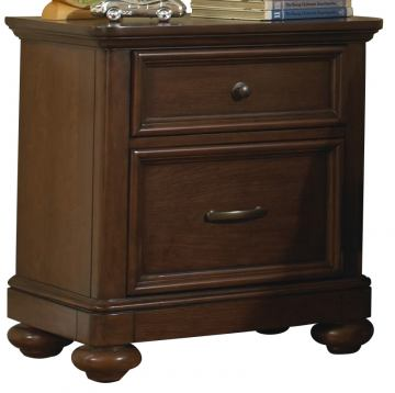 Samuel Lawrence Furniture Expedition Nightstand in Cherry 8468-450