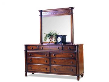 Durham Furniture Mount Vernon Landscape Mirror (Shown in Vernon finish. Dresser sold separately)