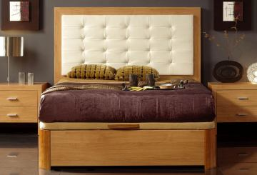 ESF Furniture 515 Alicante Full Platform Storage Bed in Cherry