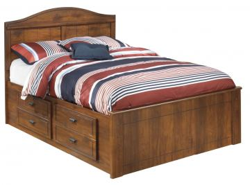 Barchan Full Storage Bed in Medium Brown