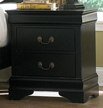 Homelegance Marianne Nightstand in Black 539BK-4