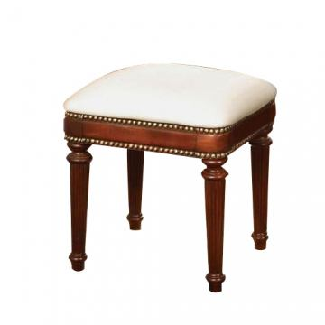 Acme Classique Ottoman Bench with Nailhead Studs in Cherry 11848