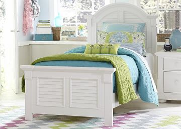 Liberty Furniture Summer House Twin Panel Bed in Oyster White 607-BRT