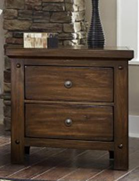 Virginia House Collaboration Two Drawer Nightstand in Rusitc Cherry 612-226