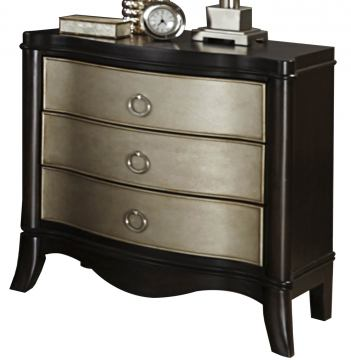 Liberty Furniture Sunset Boulevard 3 Drawer Nightstand in Coffee Bean 769-BR61