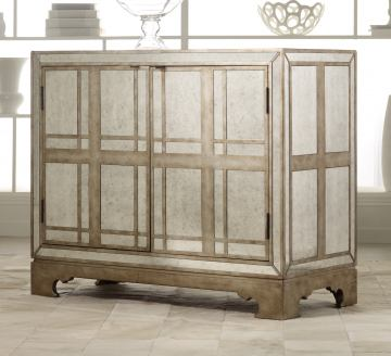 Hooker Furniture Mélange Mirrored Plaid Chest 638-85054
