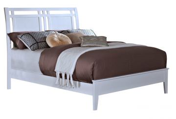 New Classic Selena King Sleigh Bed in White