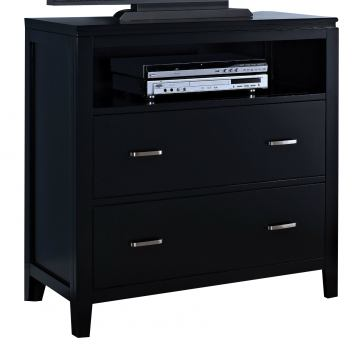 New Classic Selena Media Chest in Black 00-144-078B