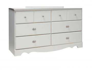 Standard Furniture Daphne Youth Drawer Dresser in Soft White