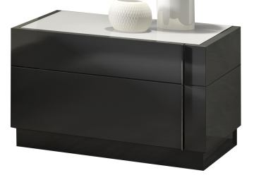 J&M Braga Nightstand in Grey Lacquer 178671-NS