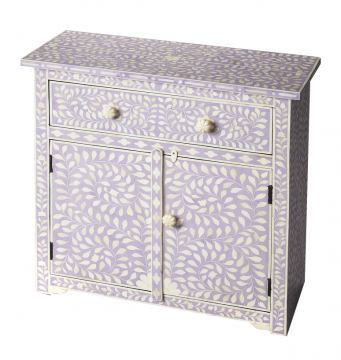 Butler Specialty Bone Inlay One Drawer Two Door Console Chest in Heritage Lavender 3203070