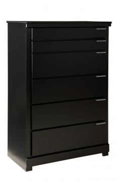 Standard Furniture Infinity 5-Drawer Chest in Ebony Black 68700-68705