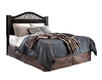 Standard Furniture Odessa Black King Poster Headboard in Black 69566