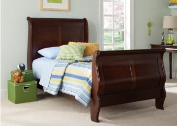 Liberty Furniture Carriage Court Youth Full Sleigh Bed in Mahogany 709-BR12F