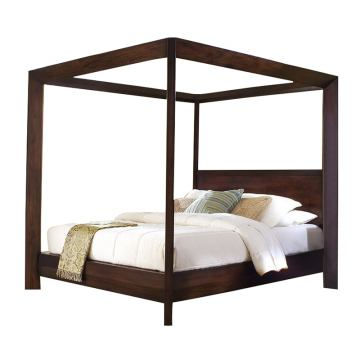 Ligna Canali Queen Poster Canopy Bed in Mocha 6807MOC