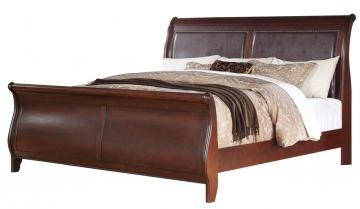 Fairfax Home Furnishings Folio Liberty Queen Sleigh Bed in Cherry