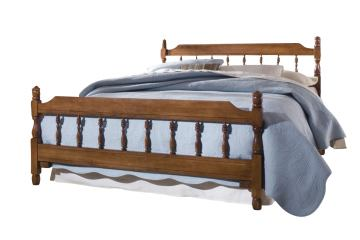 Carolina Furniture Common Sense Full Spindle Bed in Cherry