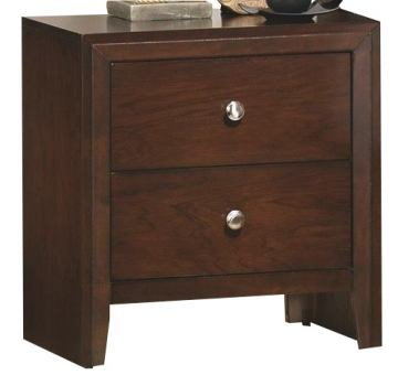 Crown Mark Furniture Evan Nightstand in Warm Brown B4700-2