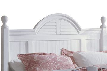 Carolina Furniture Cottage King Headboard with Bed Frame in White