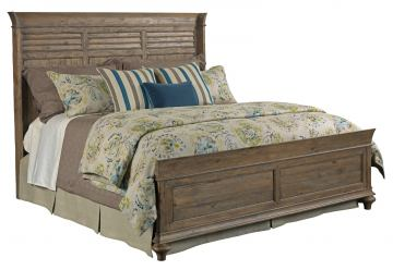 Kincaid Weatherford Shelter King Bed in Grey Heather