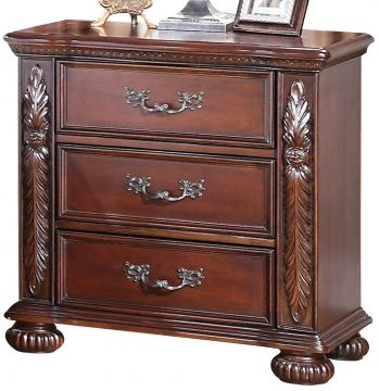 New Classic Furniture Isabelli Nightstand in Claret B5870-040