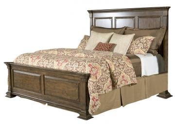 Kincaid Portolone Monteri King Panel Bed in Rich Truffle