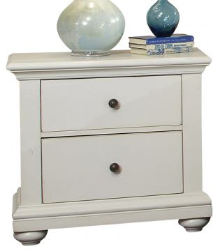 American Woodcrafters Pathways Nightstand in Linen White 5110-420
