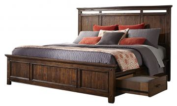 Intercon Furniture Wolf Creek Queen Storage Bed in Vintage Acacia
