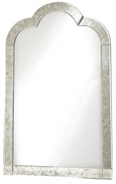 Smartstuff Furniture Genevieve Venetian Mirror in French White 434A030
