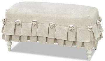 Smartstuff Furniture Genevieve Bed Bench in French White 434A075 CODE:UNIV30 for 30% Off