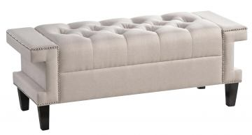 Baxton Studio Cheshire Bench in Light Beige
