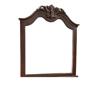 Standard Furniture Westchester Landscape Mirror in Rich Cherry 82658