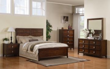 Samuel Lawrence Furniture SLD Bayfield Panel Bedroom Set in Sienna