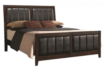 Coaster Carlton Upholstered California King Bed in Cappuccino 202091KW
